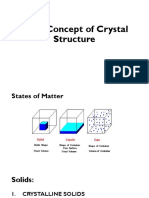 Basic Concepts of Crystal Structure