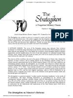 Charles C. Petersen, Strategikon - A Forgotten Military Classic