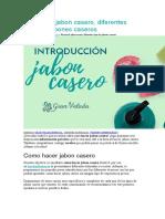 Receta de Jabon Casero
