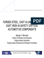 28 - Forged Steel Cast Aluminum and Cast Iron in Safety Critical Automotive Components