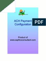 SAP ACH Payment Configuration