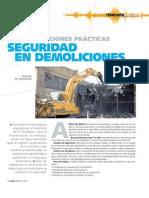 Seguridad en demoliciones