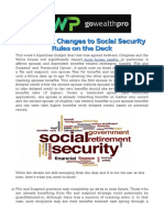 Significant Changes to Social Security Rules on the Deck
