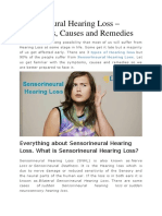 Sensorineural hearing loss in India with Symptoms, Causes and Remedies as blog post