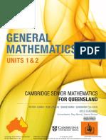 General Mathematics Units 1&2 Cambridge Senior Mathematics for Queensland