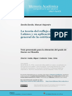 La teoría del reflejo estético en Lukács y su aplicación a la teoría general de la estética, Bonilla Bonilla, Manuel Alejandro