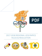Rules and Regulation for Regional Leolympics for Fiscal Year 2017-18 v1.1-1