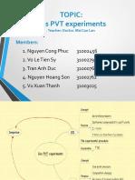 Gas PVT Experimens