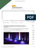 """La """"Otra"""" Conjetura de Goldbach _ Gaussianos"""