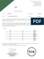 Certificado de Calidad Crouse Hinds 213979610 (00000003)