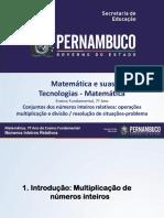 Conjuntos Dos Números Inteiros Relativos Operações Multiplicação e Divisão Resolução de Situações Problema