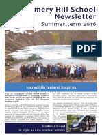 Amery Hill School Newsletter July 2016