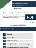APRESENTAÇÃO - Defesa Mestrado Ricardo Gonçalves