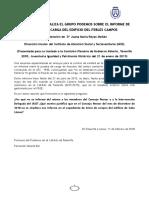 PREGUNTA sobre la omisión de un informe sobre la estructura del edificio Febles Campos