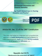 Integrating Health Related Laws in Nursing Education and Practice