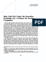 Rule 12g3-2(b) under the Securities Exchange Act_ A Primer for Fo.pdf