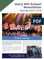 Amery Hill School Newsletter March 2016