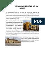 La Administracion Publica TRABAJO FINAL