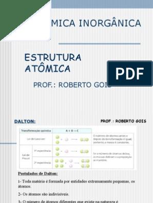 Química Rg Ppt Estrutura Atômica Elétron Orbital Molecular