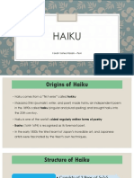 Forms of Poetry - Haiku