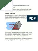 Principales Tipos de Presas y Su Clasificación