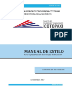 Manual de Estilo ISTC 2P-2018