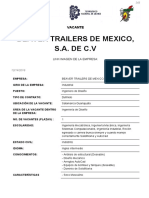 Beaver Trailers Mexico Vacante 243
