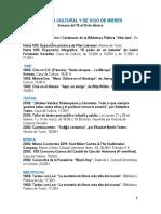 Agenda cultural y de ocio de Mieres. Semana del 18 al 24 de febrero.