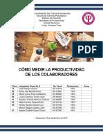 Grupo 8 -Como Medir La Productividad de Los Colaboradores
