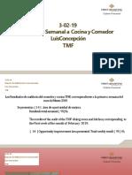 3-02-19 Reporte de Auditoría Semanal a Cocina y Comedor Luis Concepción TMF