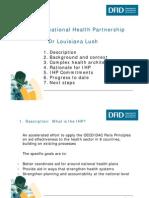 179. Dr Louisiana Lush; The International Health Partnership.