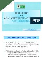 Changes in Coal Mine Regulations