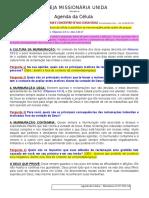 Agenda Das Células - Ministracao 10-02-2019