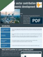 Power Sector Contribution in Economic Development