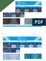 19 U17 Schedule Qualifying Stage