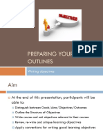 Presentation - Writing Objectives