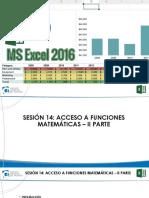 Excel 2016 Bas Sesión 14 Presentación