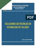 2. Soluciones Geotécnicas en Estabilidad de Taludes