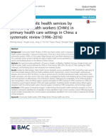Wenting Huang_2018_ Delivery of Public Health Service