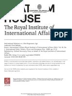 IR in a Post-Hegemonic Age