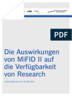 Market Trends MiFID II and Research