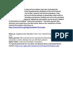 APA DSM5 Cultural Formulation Interview Supplementary Modules