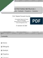 TC043 Ementa Bibliografia Avaliação Frequência Calendário
