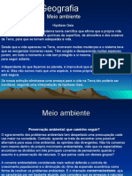 Geografia PPT - Meio Ambiente