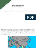 Geografia PPT - Mianmar ou Birmânia