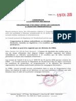 Communiqué Du Cnra 19.02.2019 concernant le Sunudebat