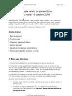 CR Du Conseil Local 19 Octobre