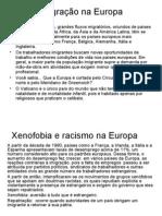 Geografia PPT - Migrações na Europa