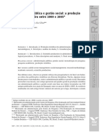 Artigo bibliométrico sobre produção em gestão pública