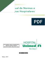 Mod 151 Manual Normas e Rotina Hospitalar